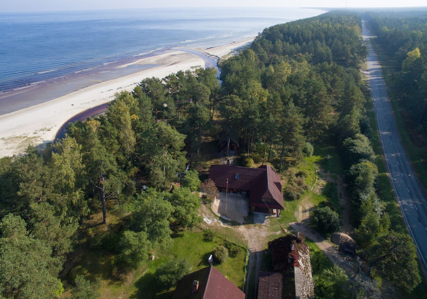 Our property, the beach and the local road! The best of  Latvian summer!