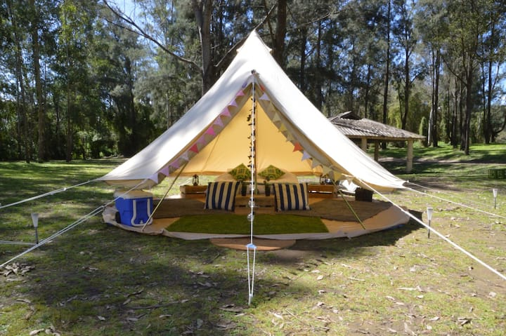 Luxury Glamping Bell Tent at Bents Basin