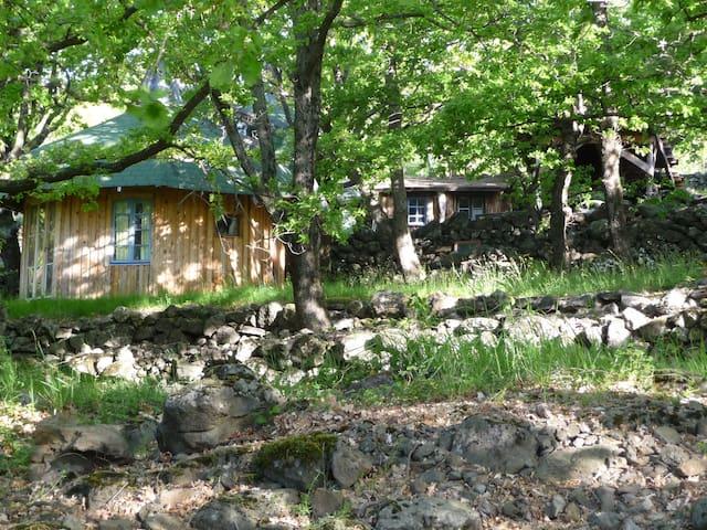 Aux Royaume des Grands Chênes, une cabane... - Saint-Laurent-sous-Coiron - Casa de campo