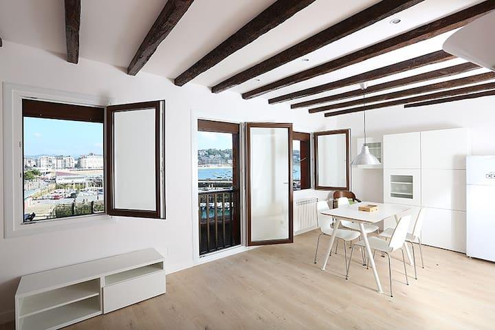 Vistas playa concha y puerto - San Sebastián - Appartamento