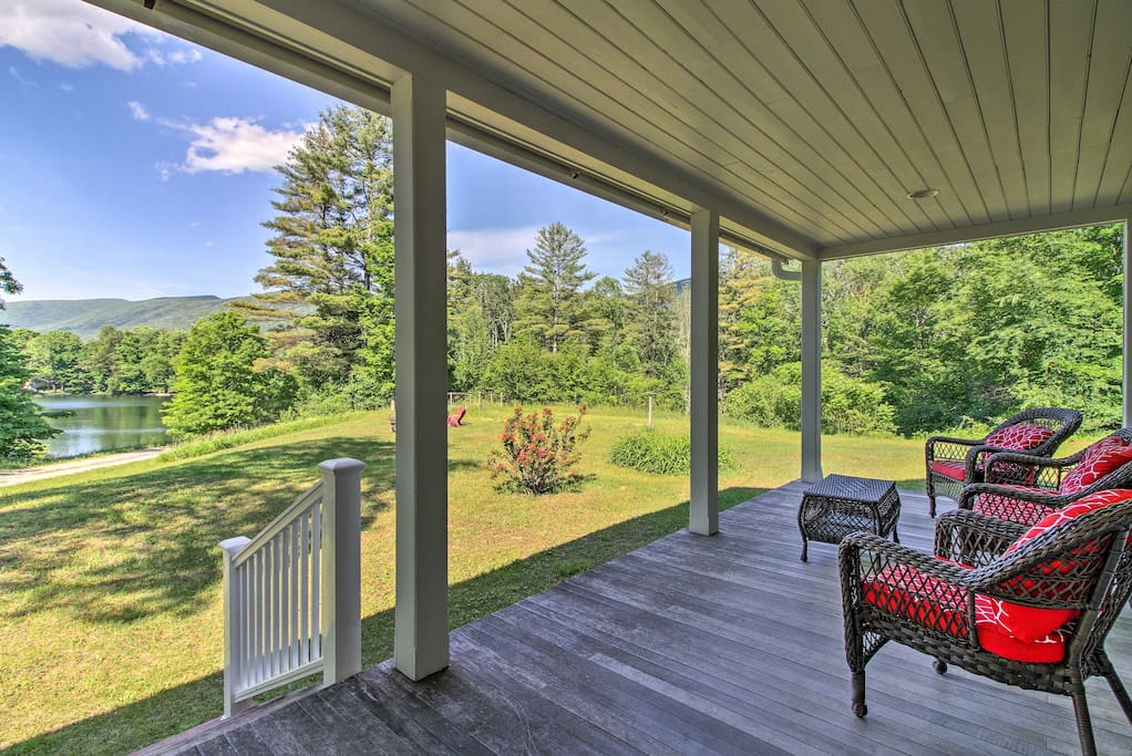 Enjoy your coffee on one of 2 country-style porches overlooking the pond.