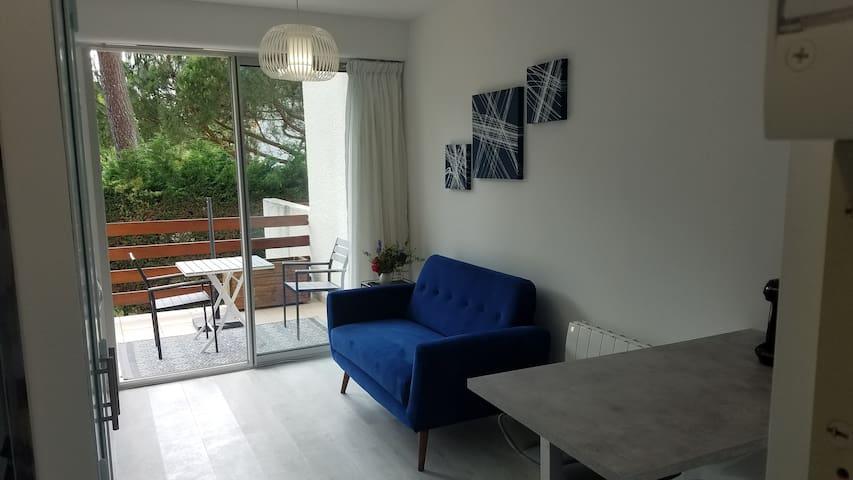 Studio 22 m2 + terrasse,  quartier du Parc