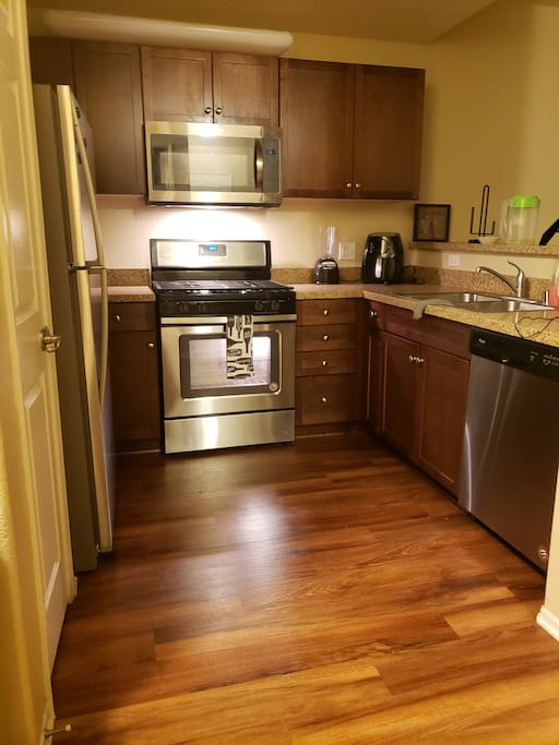 Luxury Stanley steel appliances fully equipped with granite countertops,  great for cooking..