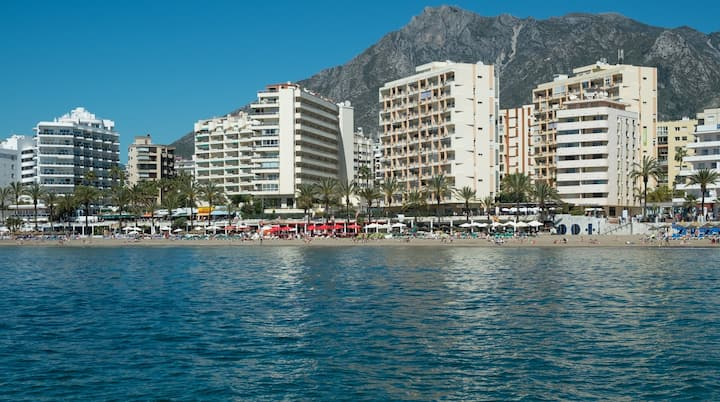 Front Sea View Apartment in Central Marbella