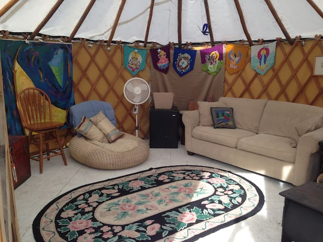 Yurt in the mountain town
