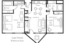 Typical 2 bedroom. Location within the complex will vary.