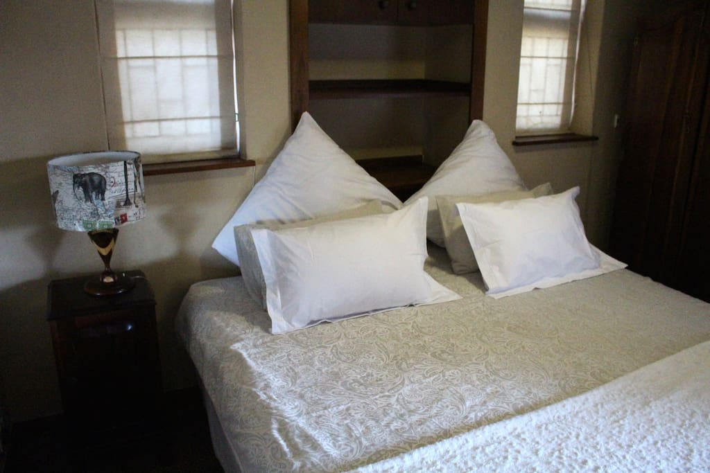 King size bed- sleeping area