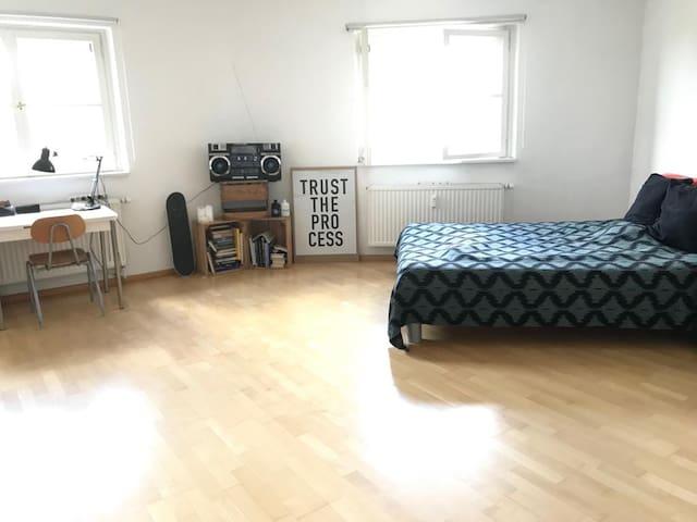 Schönes Zimmer direkt an der Isar