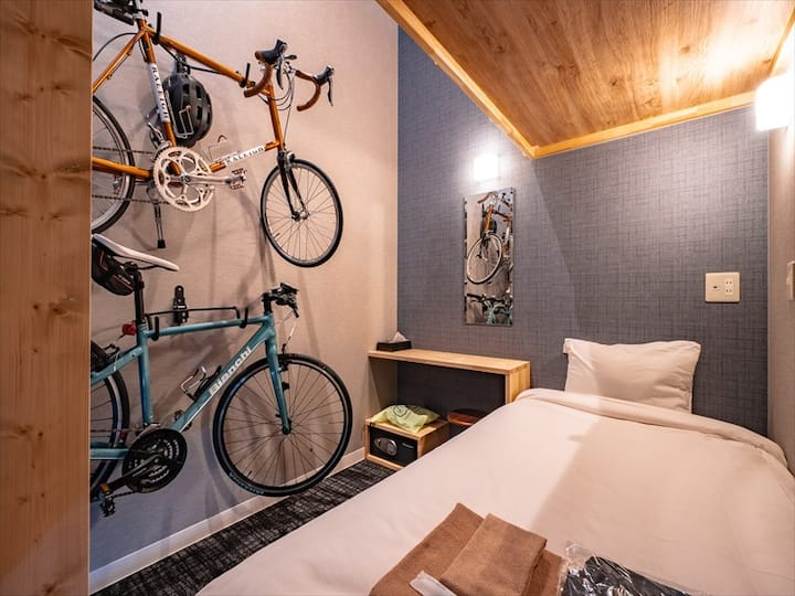 【Capsule Room Bunk Bed】Cyclist friendly hostel on