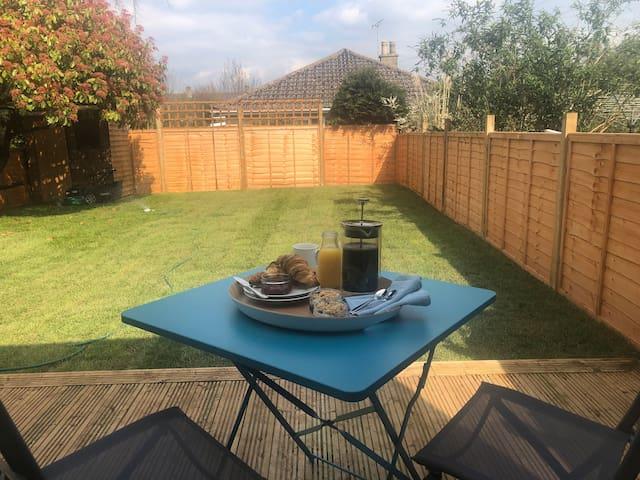 If the suns shining enjoy breakfast on the deck overlooking the garden.