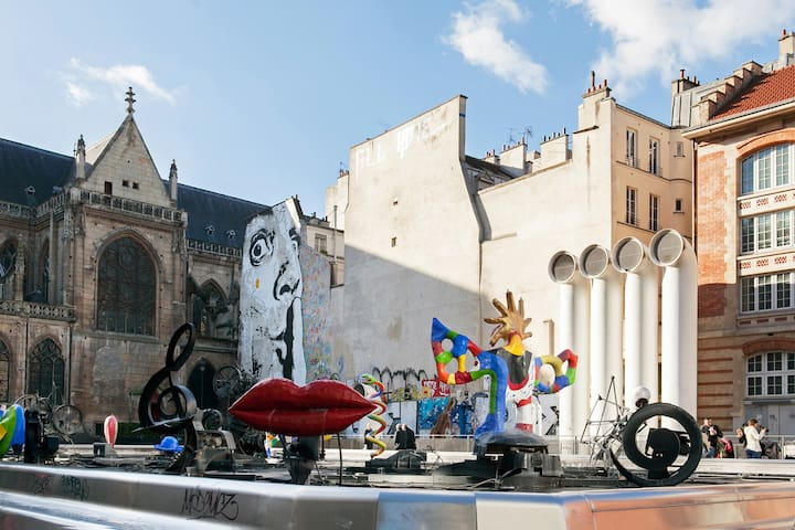 The Stravinsky Fountain, or fontaine des Automates