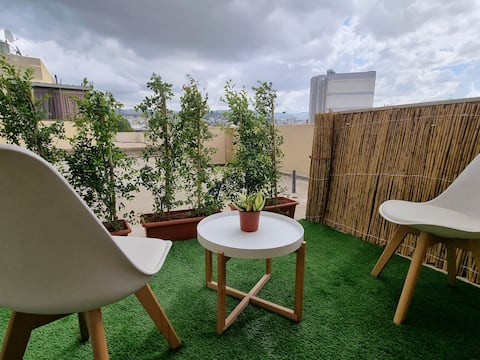 Exquisite 1-BDR Rooftop with Terrace + Great View