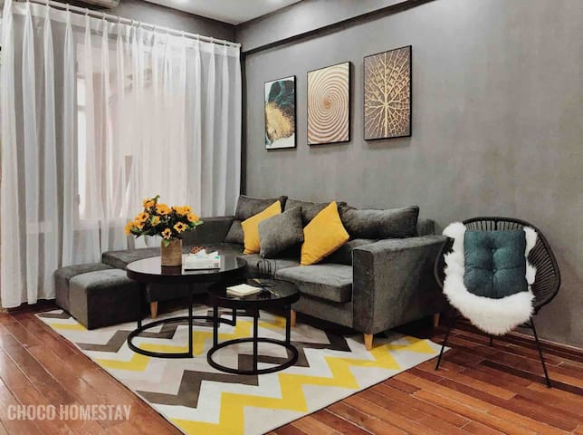 Choco homestay_2BR-3mins to old Quater