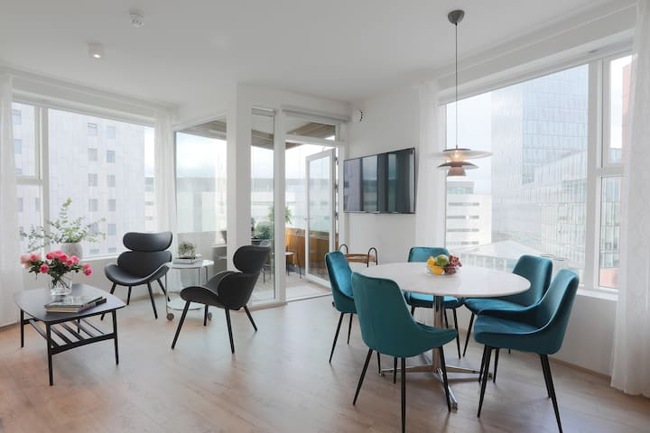 Salka Suites, New stylish apt. for 5 downtown Rvik