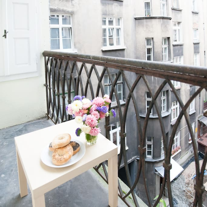 Balcony - perfect place for morning coffe