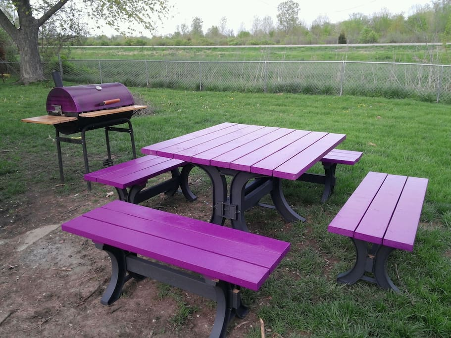 Picnic table and grill (seasonal)