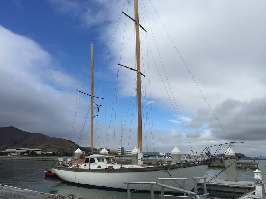 60' 1976 Classic Sailing Yacht in the most desirable slip at Oyster Point Marina, South San Francisco