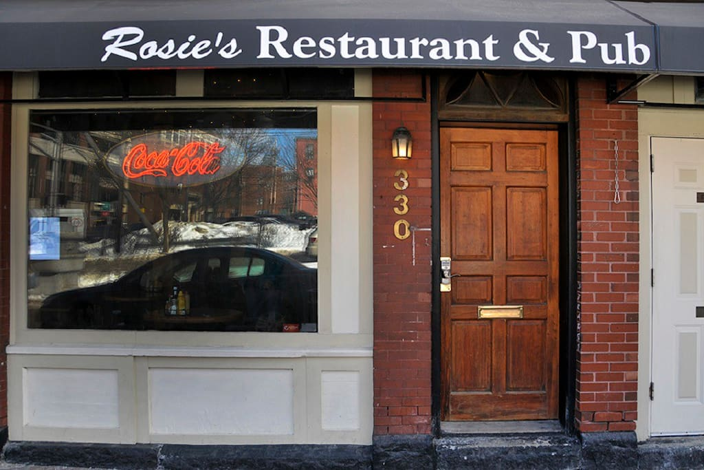 Rosie's Restaurant is right downstairs. A Portland Institution!