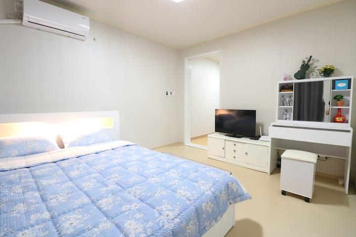 [신규] 5G WI-FI 배방역세권 (KTX역, 지중해마을 인근) 펜션급 아파트(투룸)