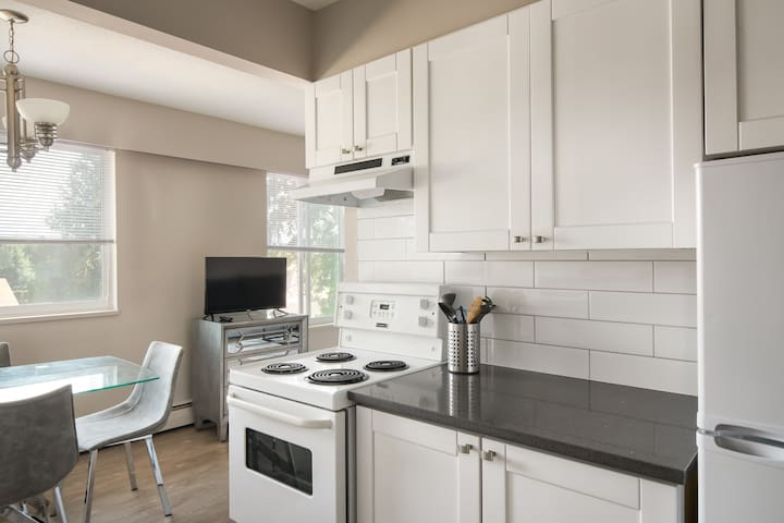 Kitchen at an angle