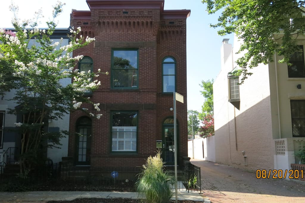 This is a picture of the front of the townhouse.  Walk down the Adolph Cluss Alley to the front door.
