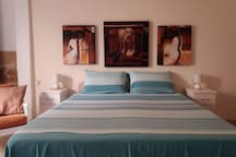 Bedding can be adjusted upon request, double bed or two single beds.
