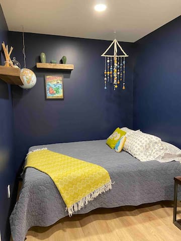 Second bedroom, Queen bed, armoire