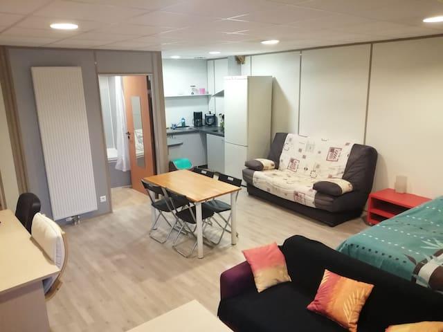 Studio 40m² tout confort, proche CNPE Bugey - PIPA