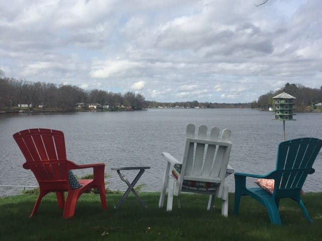 Welcome to Maple Lake! View of lake from our yard.