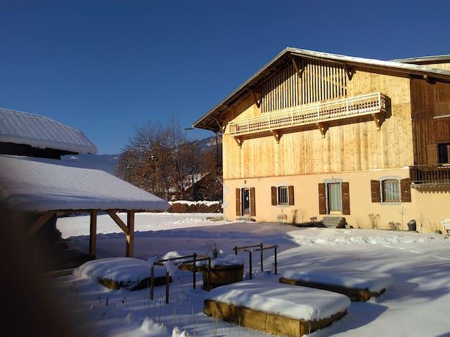 Gîte dans une ferme savoyarde traditionnelle