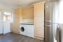 Fridge freezer, washer and dryer