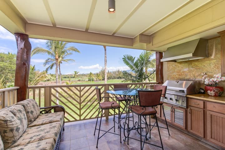 Waikoloa Beach Villas G22.  BBQ Grill on the lanai