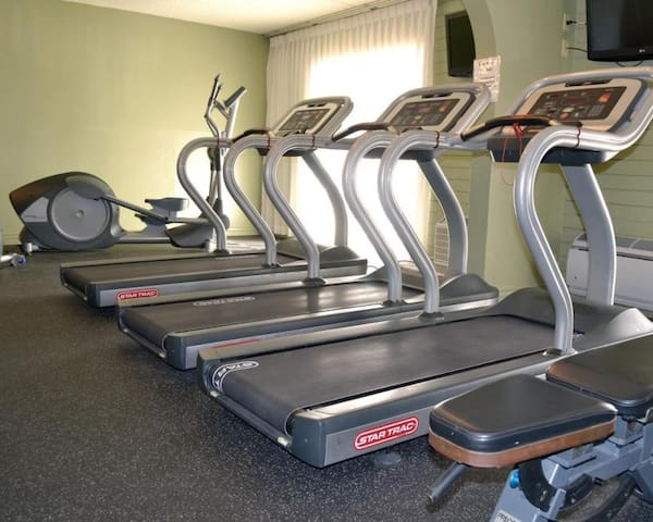 No need to skip your well planned workouts, there is a gym as well!