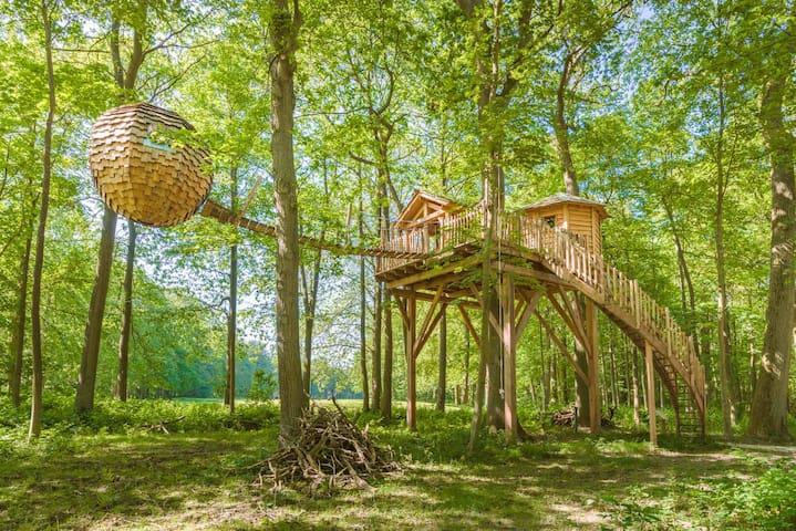 Cabane Lov'nid SPA Zen pour 2 personnes - Raray - Cabane dans les arbres