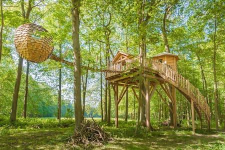 Cabane Lov'nid SPA Zen pour 2 personnes - Raray - Baumhaus