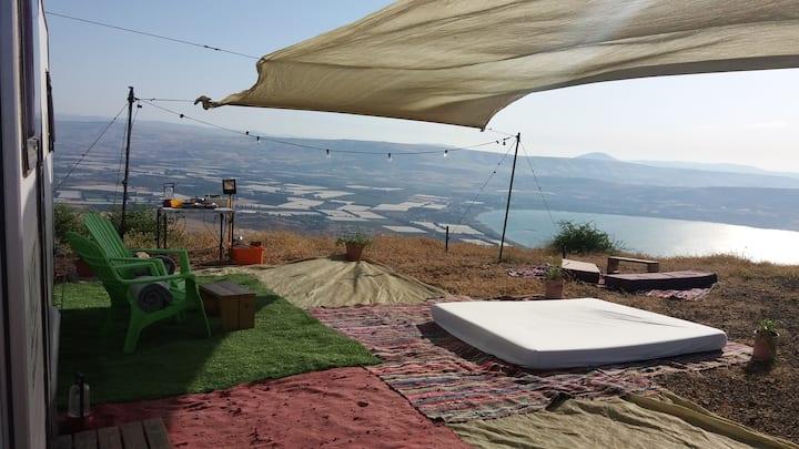 Cool and Comfy Camper Van in Golan