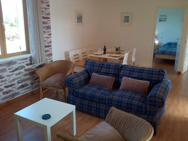 Lounge area. Comfy chairs/sofas, TV with DVD, Radio/CD player