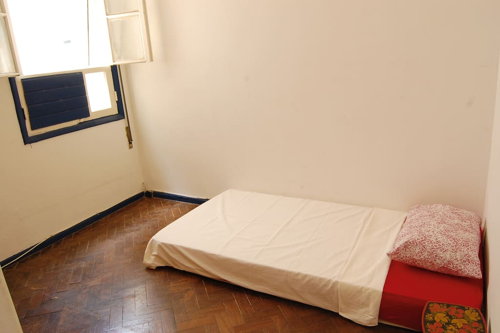 Your single room. (Room with single bed or double bed)