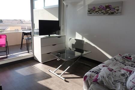 Superbe studio-loggia de 27 m2 en Front de mer - Canet-en-Roussillon