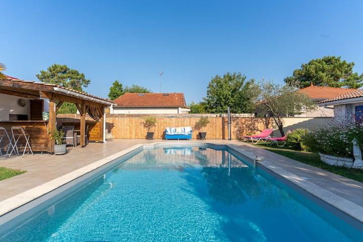 Gujan-Mestras :  T1 avec piscine idéal pour couple