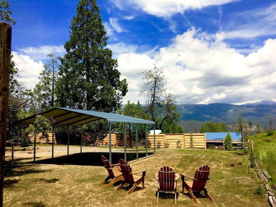 Backyard and carport