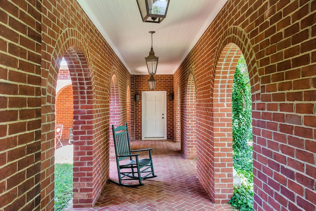 Breezeway from Main House to Carriage House