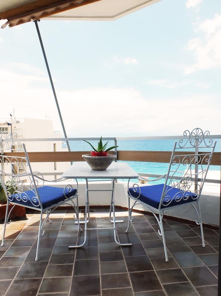 Loutraki-Sunny Balcony Flat #2  By The Sea!!!