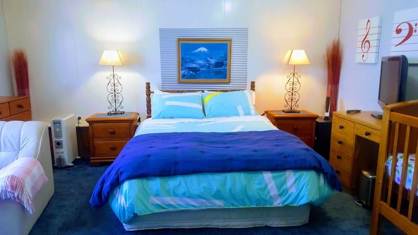 Very Spacious (5m x 6m), comfortable & quiet room