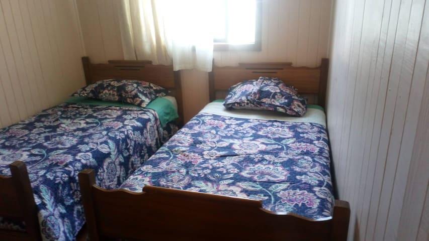 Habitación Isla Teja dos camas individuales