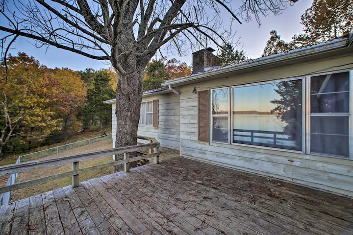 NEW! Serene Waterfront Outdoorsman's Oasis!