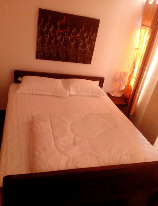 Comfortable rooms with nice beds and shower facilities