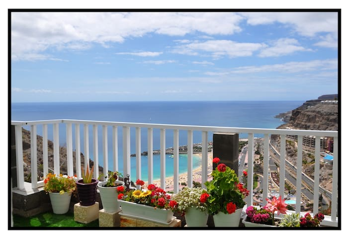 A PERFECT PLACE WITH AMAZING OCEAN VIEWS & SUNSET - Mogán - Apartemen