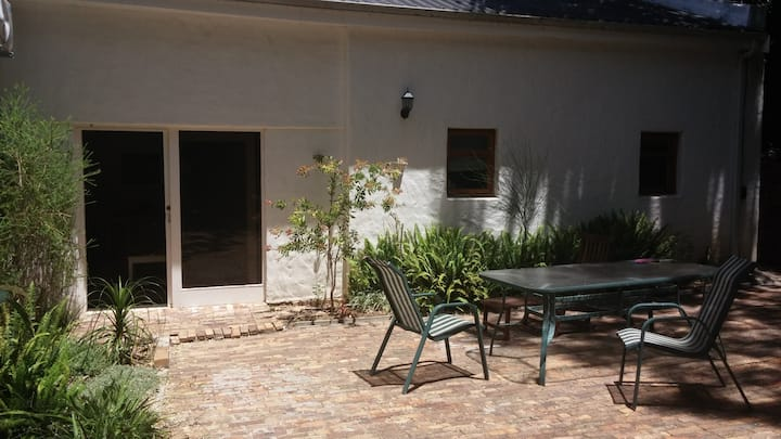 Secluded Apartment with a large patio.