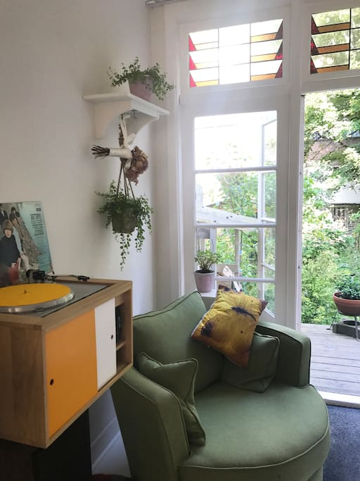 Reading corner with Record Player